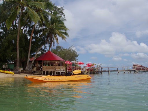 Have a cold drink at one of the local cafes on Tonga between kayak outings.