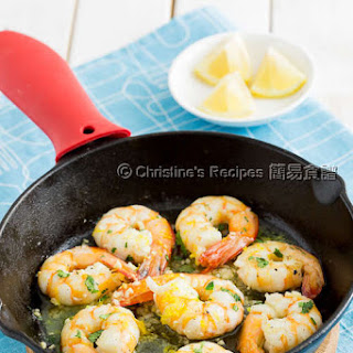 Lemon Garlic Prawns.