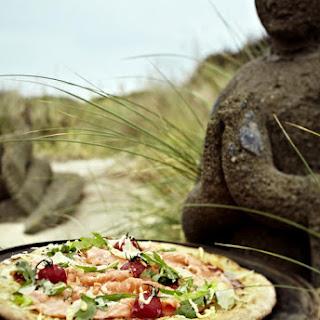 Wild Salmon and Arugula Pizzas