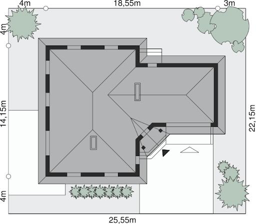 Dom przy Jaśminowej 2 - Sytuacja