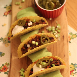 Slow Cooked Black Bean Tacos.