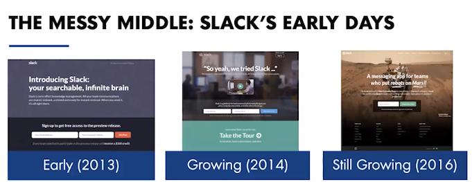 Slack's early days