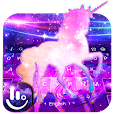 Fantasy Galaxy Unicorn Keyboard Theme