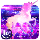 Fantasy Galaxy Unicorn Keyboard Theme file APK Free for PC, smart TV Download