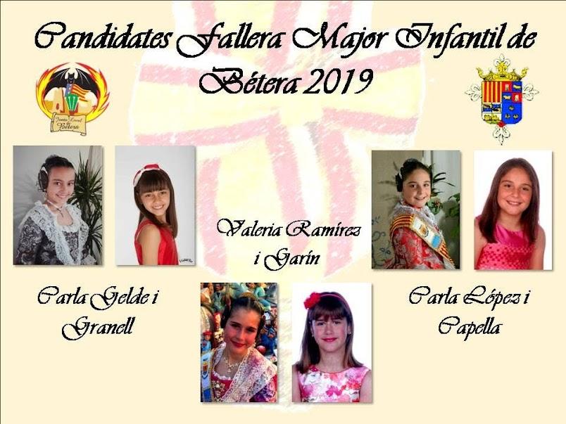 Candidates a Fallera Major i Fallera Major Infantil de Bétera per a les Falles 2019