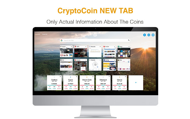 New Tab with Crypto Stats