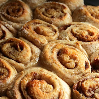 Cinnamon Buns with a Sticky, Yummy, Unforgettable Glaze that makes you Glad You're Alive, Glaze