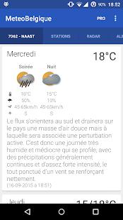 Météo en Belgique- screenshot thumbnail