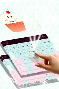 Cute Keyboard Cupcakes Theme - náhled