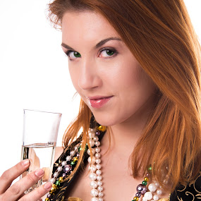 Cheers by Christopher Mazzoli - People Portraits of Women ( cosplay, girl, female, alcohol, woman, costume, gir, mardi gras, pirate )