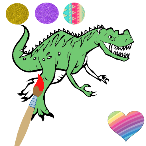 Dinosaur Coloring Pages Dino Coloring Game Google Play De