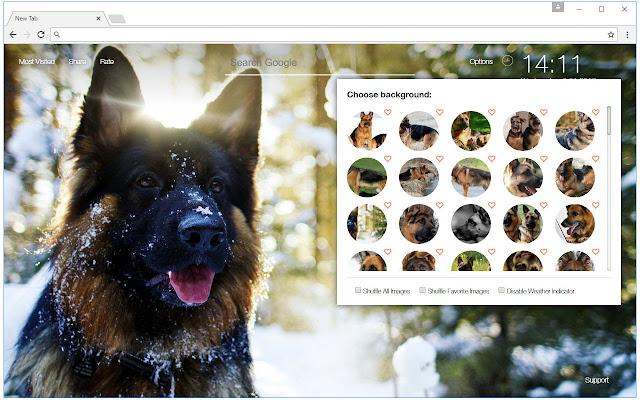German Shepherd Wallpaper Custom Dogs New Tab