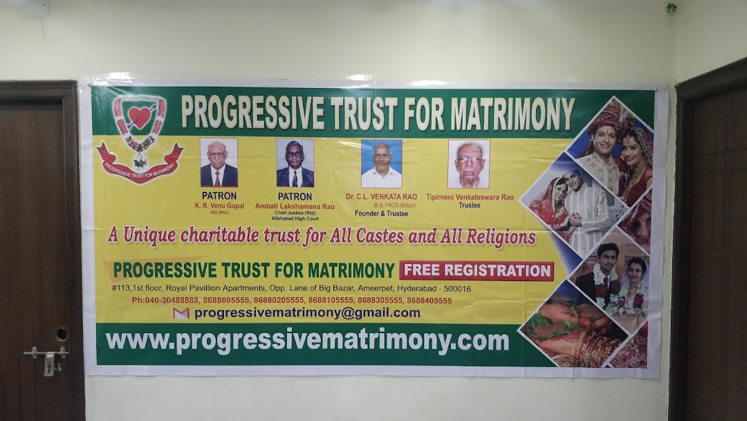 Progressive Trust For Matrimony - Marriage License Bureau in Hyderabad