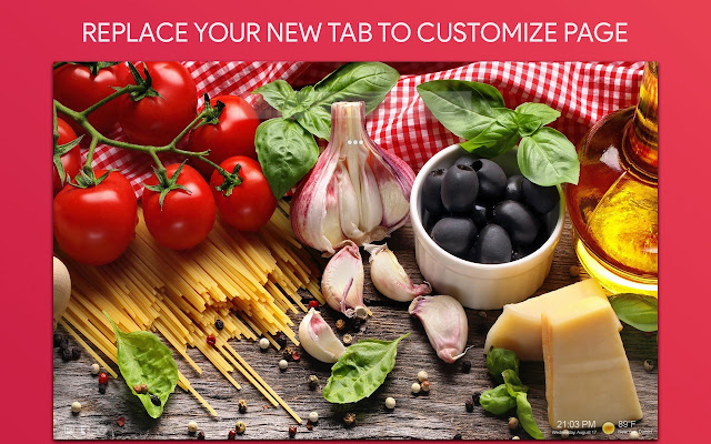 Food Wallpaper HD Custom New Tab