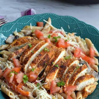 Healthier Cajun Chicken Pasta.