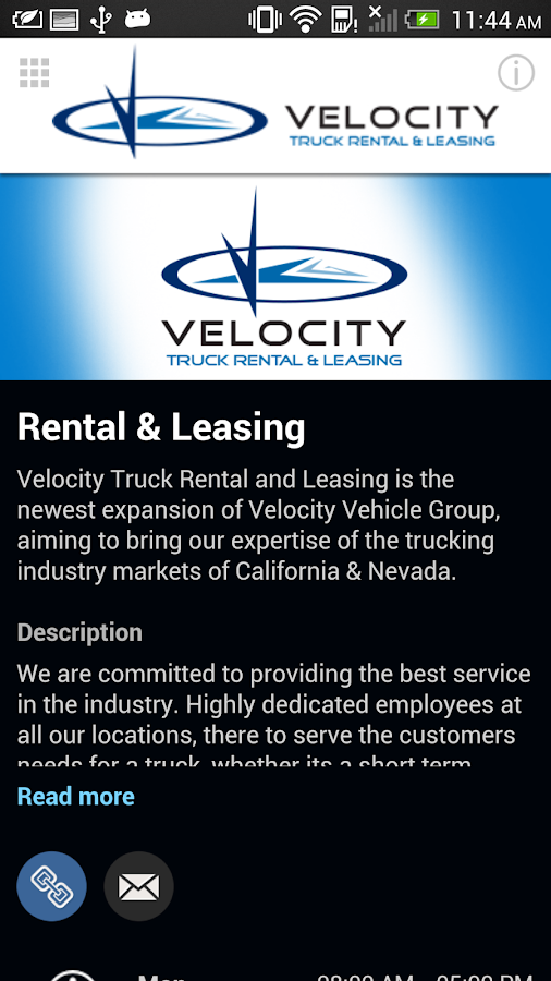 Velocity Truck Rental & Lease- screenshot