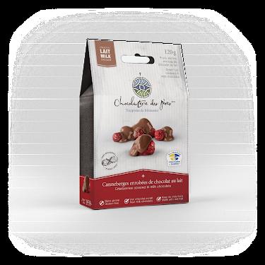Chocolat Canneberges enrobées de chocolat au lait Boîtes maison