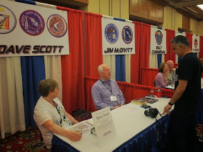 Photo: Dave Scott talking to Amjad, and Jim McDivitt cracking up over something in the background...