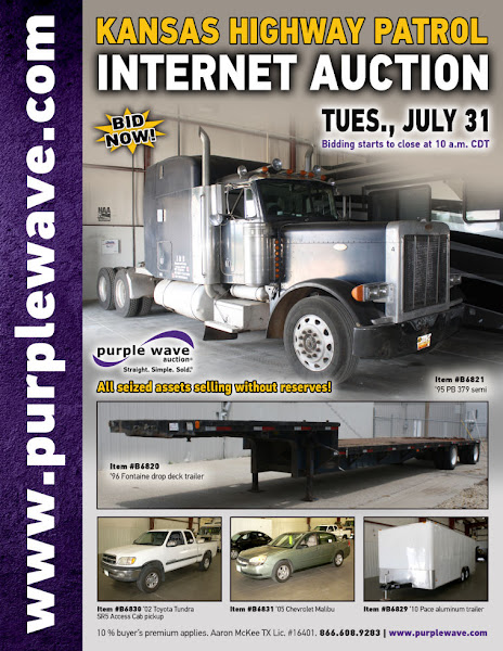 Photo: Kansas Highway Patrol Seizure Auction July 31, 2012 http://purplewave.co/120731A