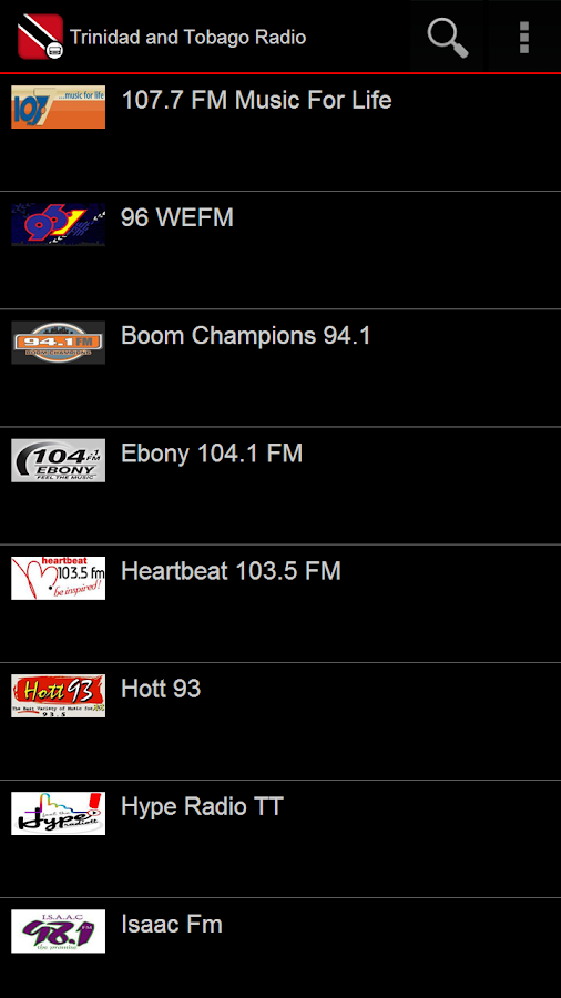 Trinidad and Tobago Radio- screenshot
