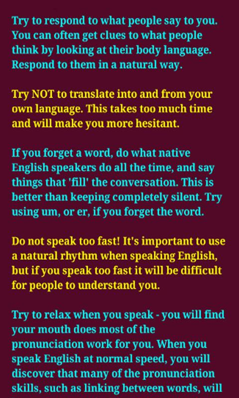 Speaking Skills- screenshot