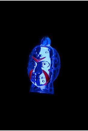 Lysande halsband dracula, blå