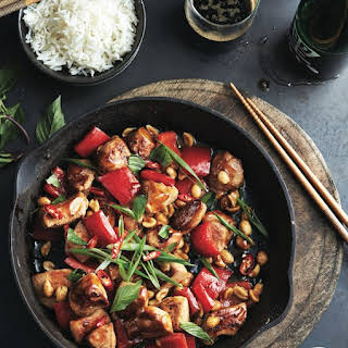 Kung Pao chicken stir-fry.