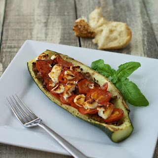 Stuffed Zucchini Boats with Sausage, Tomatoes, and Cheese Recipe