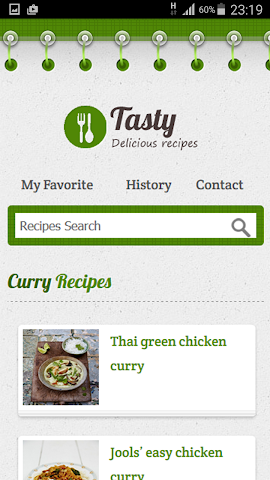 android Curry Recipe Screenshot 0