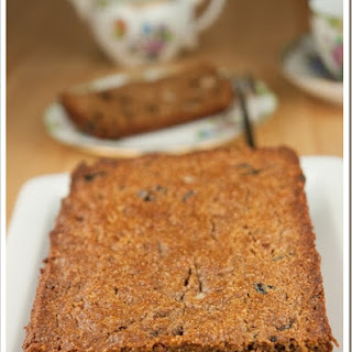 Whole Wheat Banana Loaf with Prunes and Brazil Nuts.