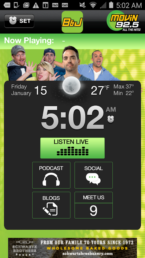 Brooke & Jubal Alarm Clock- screenshot