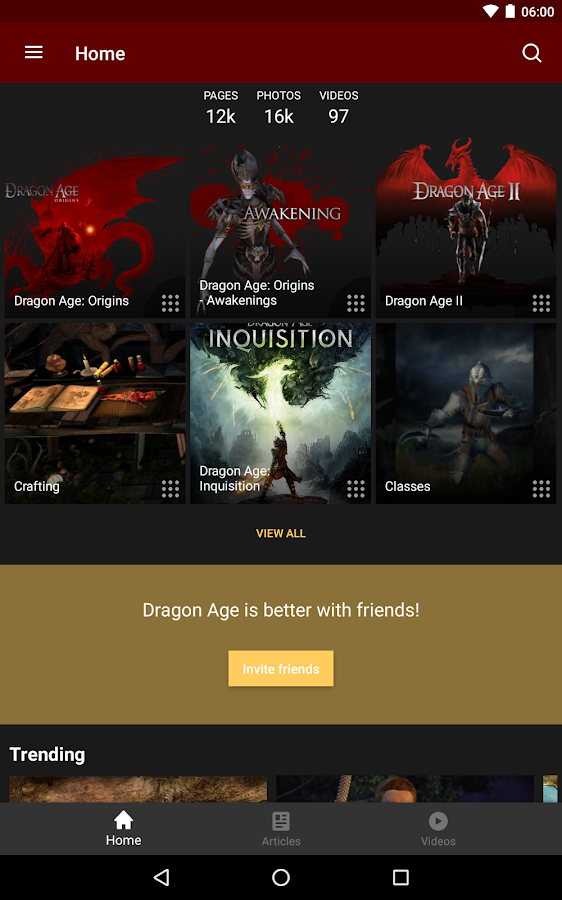 Wikia: Dragon Age – Screenshot
