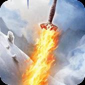 Fiery sword in water LWP