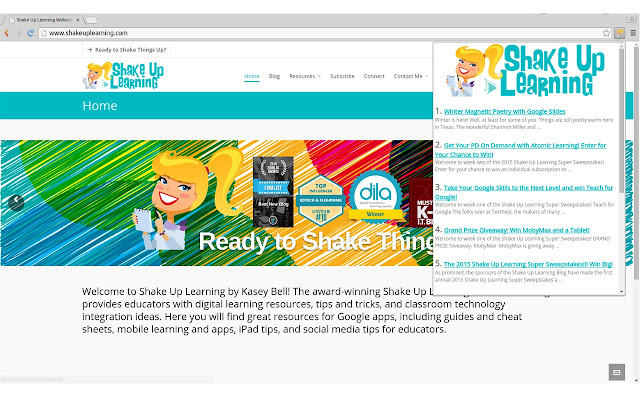 Shake Up Learning - by Kasey Bell.