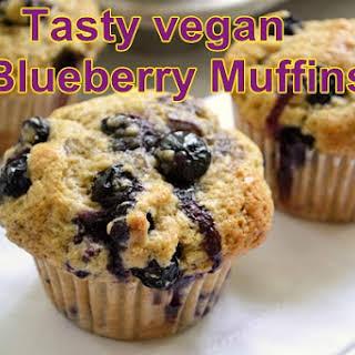Vegan Blueberry Muffins.