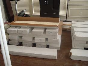Photo: stack many boxes of hardwood floors. before installation