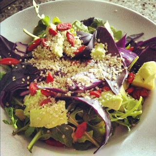Post-Workout Salad with Hemp & Goji Berries Plus a Giveaway for new kicks!