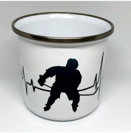 Mugg - Hockeyspelare - hjärtmonitor