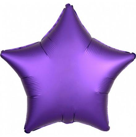 Folieballong Satinstjärna lila, 48 cm