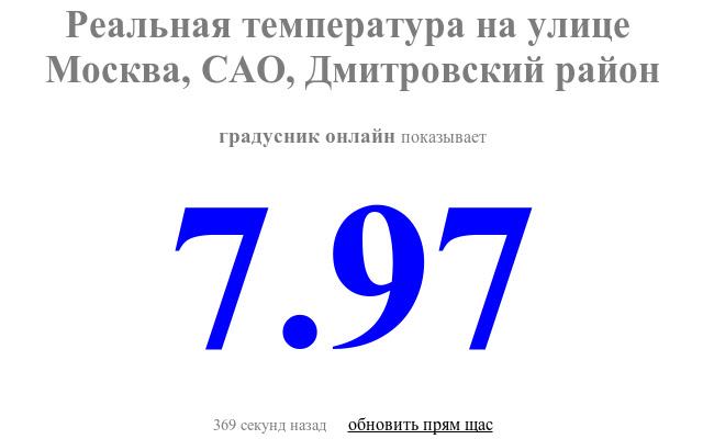 Градусник онлайн (Москва)
