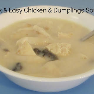 Chicken and Dumplings Soup.