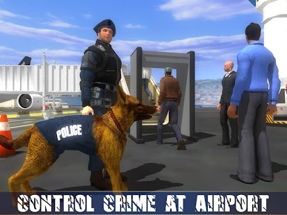 3 Police Dog Airport Crime Chase App screenshot