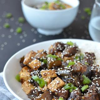 Eggplant Teriyaki Stir Fry with Tofu Recipe