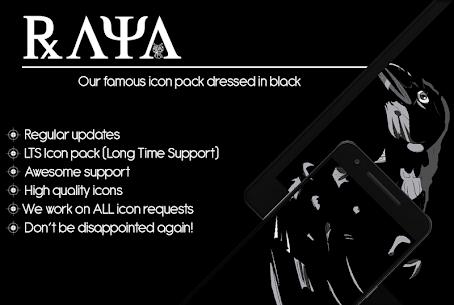 Raya Black Icon Pack – 100% Black (MOD, Paid) v24.0 1