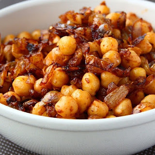 Pan-Fried Chickpeas with Caramelized Onions.