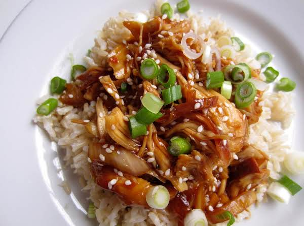 Gorgeous Glazed Honey Sesame Chicken With Rice!