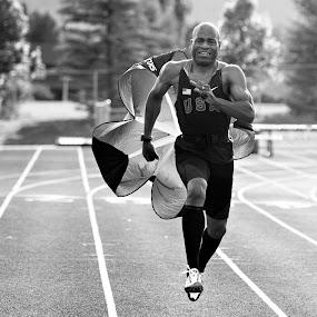 Running by Kristin Cheatwood - Black & White Sports ( running )