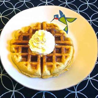 Yeasted Buttermilk Vanilla Waffles.