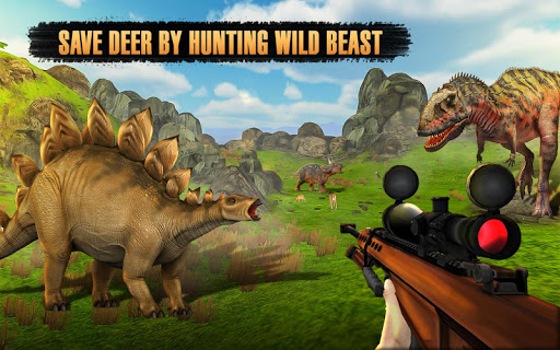 Dinosaur Hunter Free Wild Jungle Animals Safari  screenshots 1