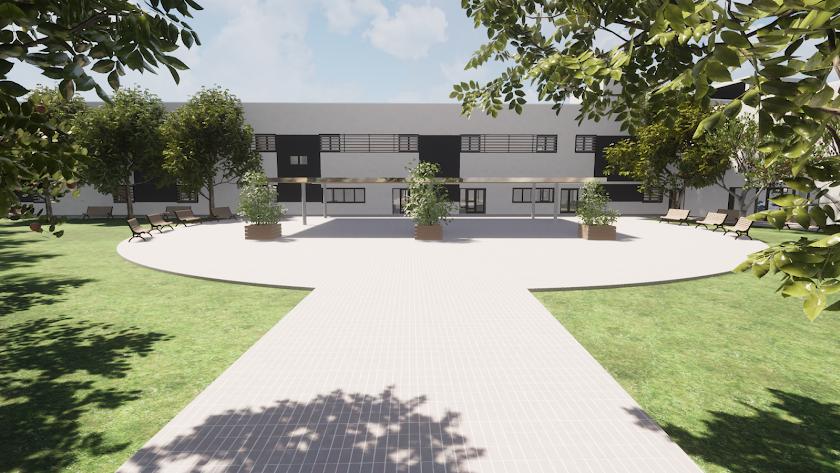 Imagen digital de la residencia de mayores, según aparece en el proyecto.